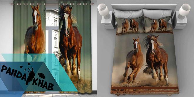 خرید روتختی سه بعدی طرح اسب